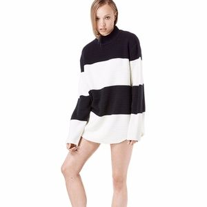 Unif Bobbie Black and White Sweater